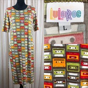 Lularoe Tee Shirt Dress with Cassette Pattern